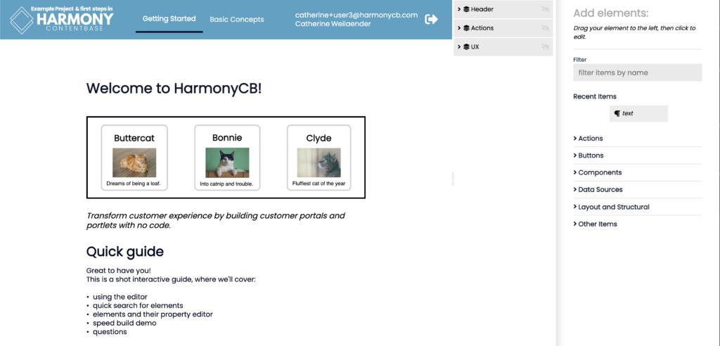 Harmony ContentBase